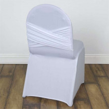 White cross back Spandex Lycra chair cover