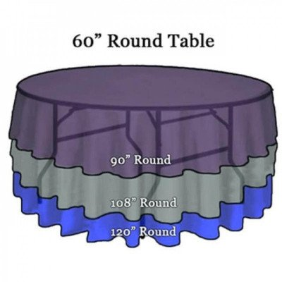 """Tablecloth, 108"""" Round picture 2"""