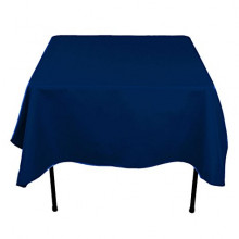 7' x 7' square large navy blue tablecloths