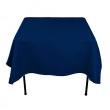 """44"""" x 44"""" square navy blue table cloths"""