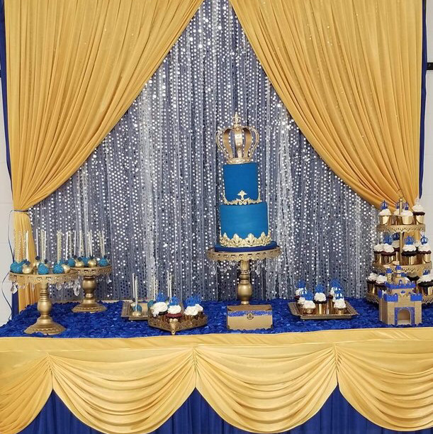 12 Gold crystal dessert cake stands and trays