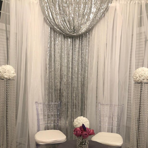 backdrop sliver/crystal pillars