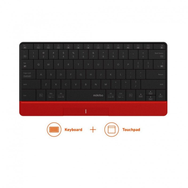 mokibo touch-pad embedded keyboard