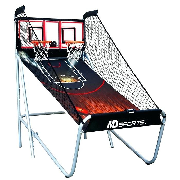indoor basketball arcade set