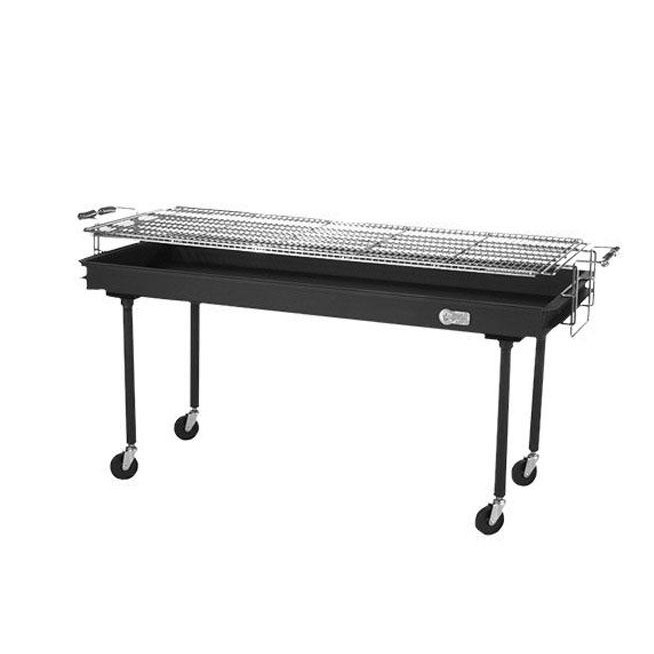 Large silver bbq