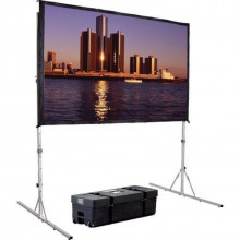 "Dalite fastfold 99"" projector screen"