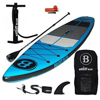 """bright blue - 11'6"""" inflatable stand up paddle board-1"""