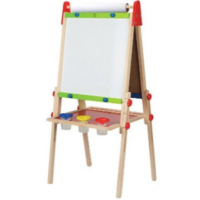 hape – all-in-one wooden kid's art easel
