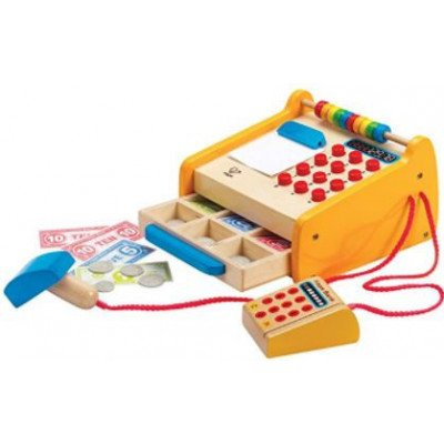 hape – checkout register kid's wooden play set