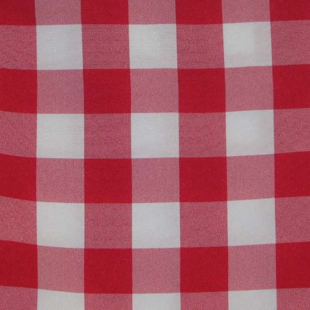 Table cloth red and white check