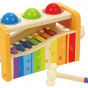 Hape – Pound & Tap Bench with Slide Out Xylophone