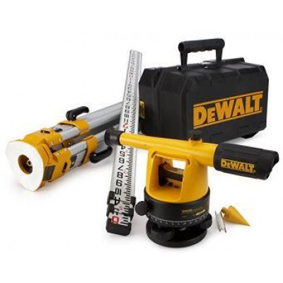 dewalt – 20x builder's level package with tripod and rod