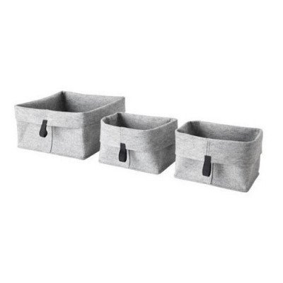 gray basket – set of 3