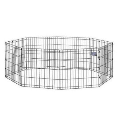 "midwest – 24"" foldable metal exercise playpen-1"