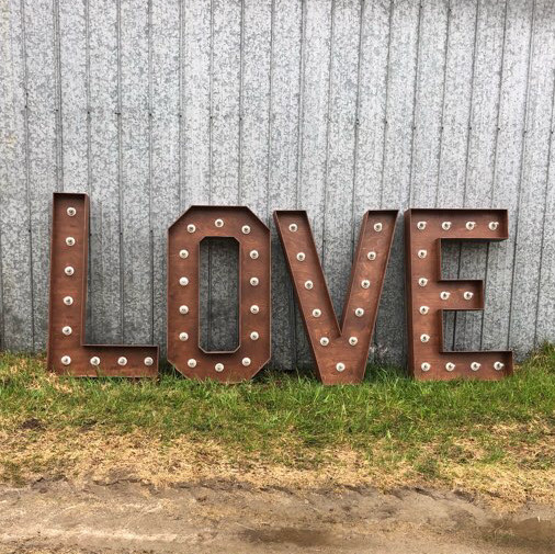 4ft love marquee letters
