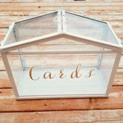 Glass terrarium card box