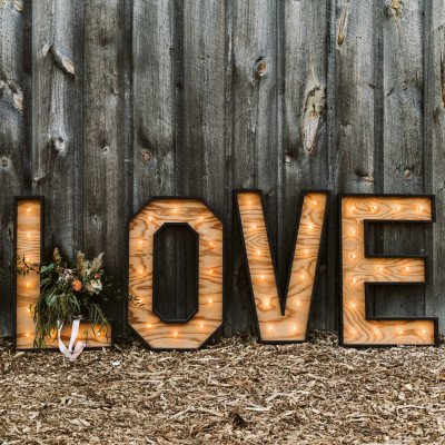 3ft love marquee