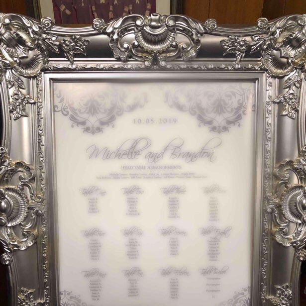 silver ornate frame with matching easel-2