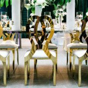 Gold butterfly chairs