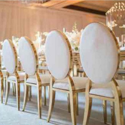 gold infinity chairs - white cushions-1