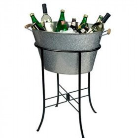 Galvanized tub cooler w/stand