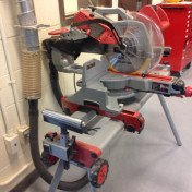 "12"" mitre saw Milwaukee stand and light"