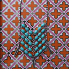 Lucky Brand turquoise statement necklace