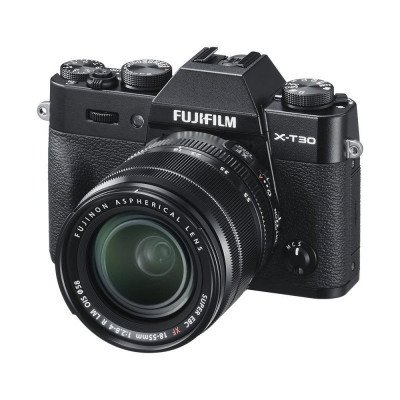fujifilm x-t30 black camera with lens picture 1