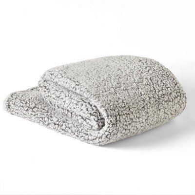 sherpa grey throw picture 2