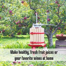 Weston 4 Gallon Fruit and Wine Press, Blocks, for Juice and Cider