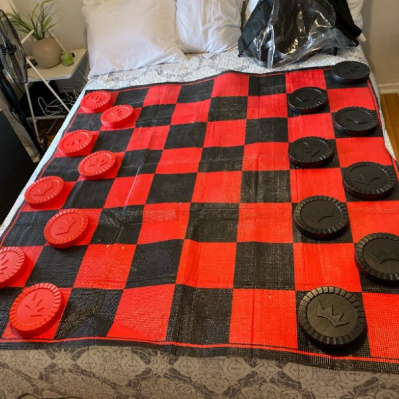 Giant checker board   pieces