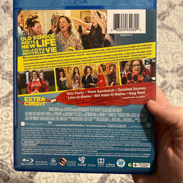 life of the party blu-ray/ dvd set - melissa mccarthy-1