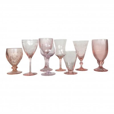Blush and Cameo Glass Drinkware picture 1