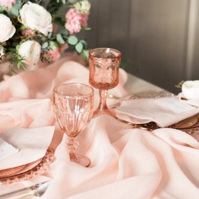 Blush and Cameo Glass Drinkware picture 2