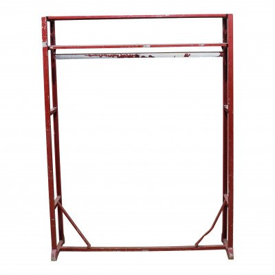 Red Metal Garment Rack picture 1