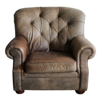 Allen Leather Club Chair picture 1