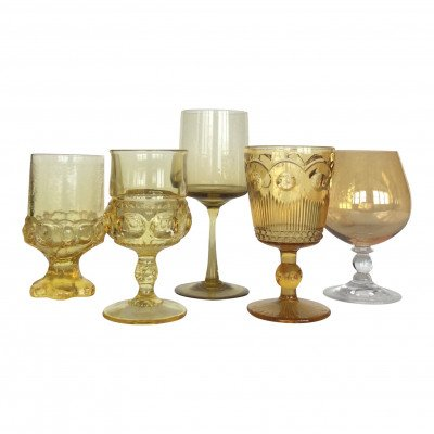 Honey and Marigold Glass Drinkware picture 1