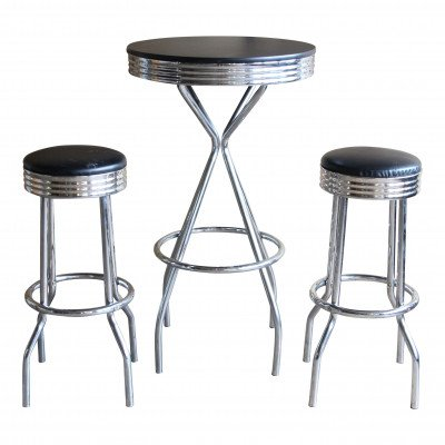 Fonzie Bar Table and Stools Set picture 1