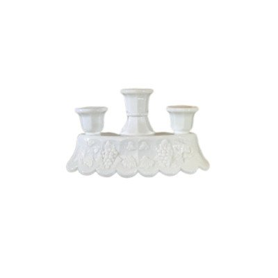 Milk Glass Triple Candlestick - Assorted picture 1