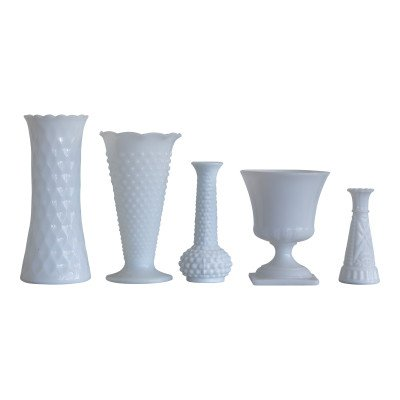 Milk Glass Assorted Vases picture 1