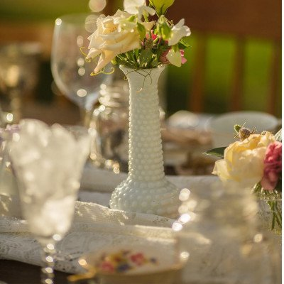 Milk Glass Assorted Vases picture 3