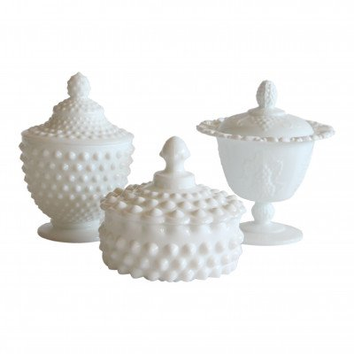 Milk Glass Covered Dish picture 1