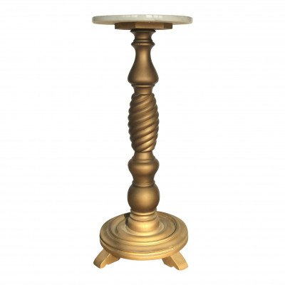 Rosalind Marble Top Pedestal Table picture 1