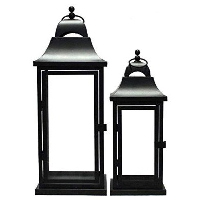 Pair of XS Black Candle Lanterns picture 1
