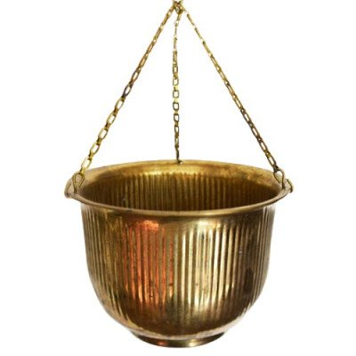 Brass Hanging Planter picture 1