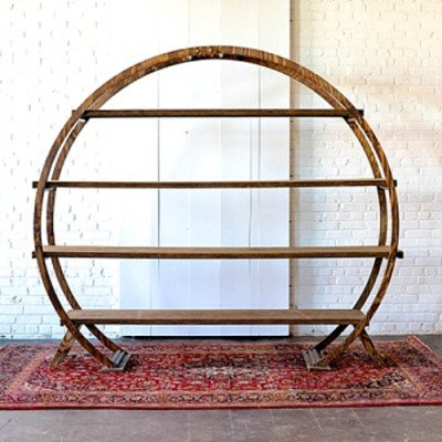 Round Wood Arbor with Shelves picture 1