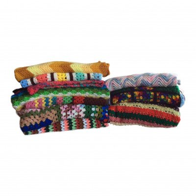 Set of 3 Brightly Colored Afghans - Assorted picture 1