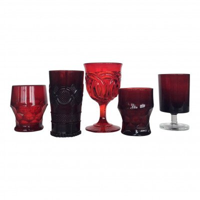Garnet and Ruby Glass Drinkware picture 1