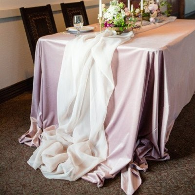 Ivory Voile Tablerunner picture 1