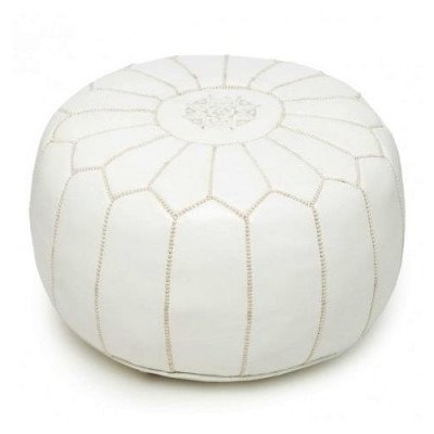 Moroccan Leather Pouf picture 1